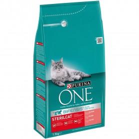 Pienso para gatos Purina One Bifensis Esterilizados rico en Salmón y Trigo