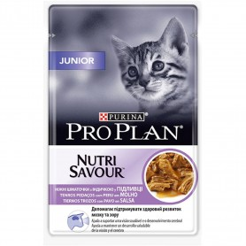 Comida húmeda Purina Pro Plan Junior Gato Pavo (Salsa)