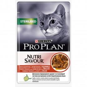 comida húmeda Purina Pro Plan Sterilised Gato Buey (Salsa)