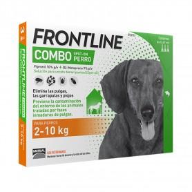 Frontline Combo Spot On Perros 2-10 Kg, Pipetas para perros antipulgas
