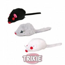 Ratón peluche, 5 cm, granel, Gris