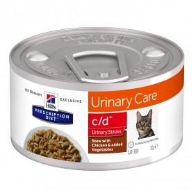 Comida Húmeda Hill´s Prescription Diet Feline c/d Urinary Stress Estofado con Pollo y Verduras