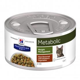 Hill´s Prescription Diet Feline Metabolic Estofado con sabor a Pollo y Verduras, comida húmeda
