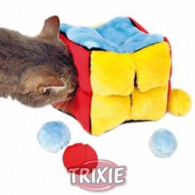 Cubo peluche con 4 pelotas catnip
