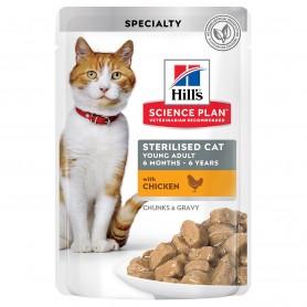 Hill's Science Plan Feline Young Adult Sterilized Cat Pollo (Bolsita)
