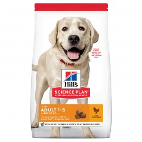 Hill's Science Plan Adult Light Large Breed alimento seco perro sabor pollo