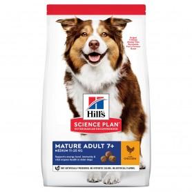 Hill's Science Plan Pienso seco perro Mature Adult +7 razas medianas pollo