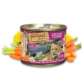Natural Greatness conejo y pato con zanahoria y manzanilla cat (lata)