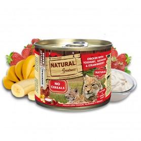 Natural Greatness Pollo con Yogur, plátano y fresas Cat (lata)