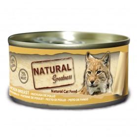 Natural Greatness pechuga de pollo gatos adultos (lata)