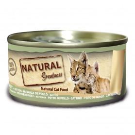 Natural Greatness pechuga de pollo gatitos y adultos (lata)