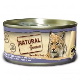 Natural Greatness pescado de mar gatos adultos (lata)