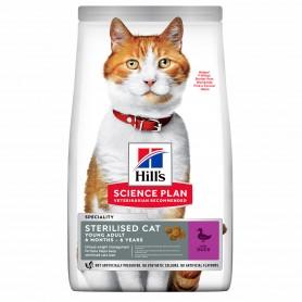 Hill's Science Plan Sterilised Cat Alimento para Gatos Jóvenes con Pato
