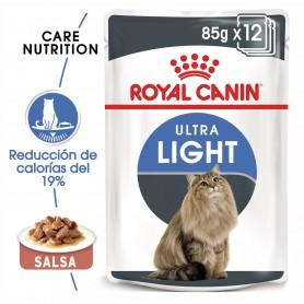 Royal Canin Ultra Light comida húmeda en salsa para el control de peso en gato adulto