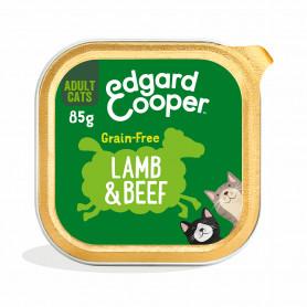 Edgard & Cooper, pack 19 Tarrinas Adult Vacuno y cordero con salvia, ortiga y arándanos azules