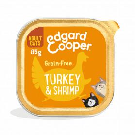 Edgard & Cooper, pack 19 tarrinas sin cereales con pavo y gambas para gatos adultos