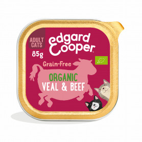Edgard & Cooper, pack 19 tarrinas Adult Vacuno y ternera ecológicos con albahaca y ortiga ecológicas