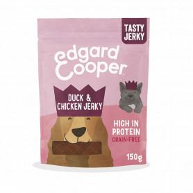 Edgard & Cooper, jerkeys sin cereales con pato, pollo, calabaza y plátano