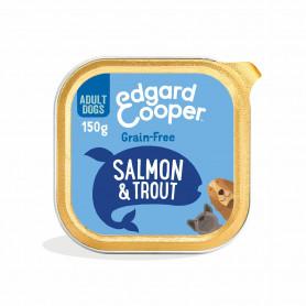 Edgard & Cooper, pack 11 tarrinas sin cereales con salmón y trucha para perros adultos