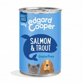 Edgard & Cooper, latas sin cereales con salmon y trucha para perros adultos