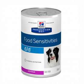 Hill's Prescription Diet d/d alimento húmedo para Perros con Pato - lata