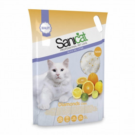 Sanicat Arena de silice Diamons para gatos con aroma a cítricos