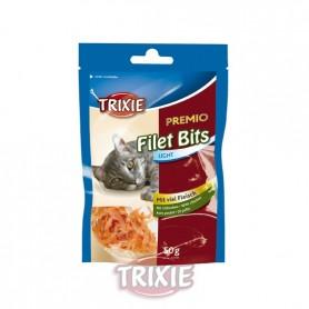 Premio Light Filet Bits, Pollo, 50 g, Snacks para gatos