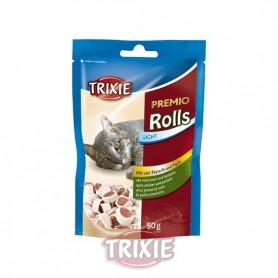 Premio Rolls, pollo/merluza, 50 g, Snacks para gatos