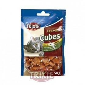 Premio Cubes, pollo, 50 g, Snacks para gatos