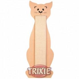 Tabla rascadora, forma gato, 21x58 cm, Beige