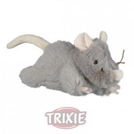 Ratón peluche con sonido, 15 cm