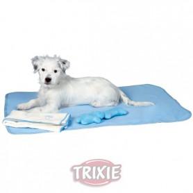 Juego Cachorros: Manta, 2 Juguetes y Toalla, Azul