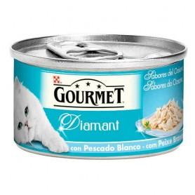 Comida húmeda para gatos Purina Gourmet Diamant Sabores del Océano Pescado Blanco