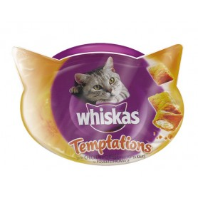 Whiskas Temptation Pollo, Snacks para gatos