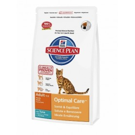 Pienso para gatos Hill's Science Plan Feline Adult Optimal Care Atún