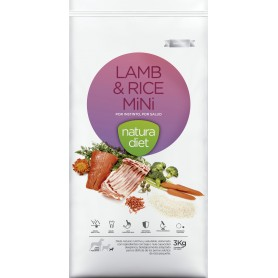 Natura Diet Lamb & Rice Mini, pienso para perros naturales