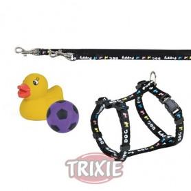 Set para cachorros Arnés con Ramal y juguetes de Trixie