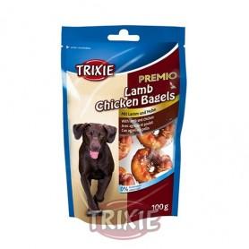 Lamb Chicken Bagels Premio, Snacks para perros, golosinas suaves