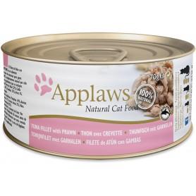 comida húmeda para gatos Applaws Cat lata atún y gambas