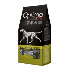 Optima Nova Adult Digestive Rabbit & Potato, pienso para perros naturales