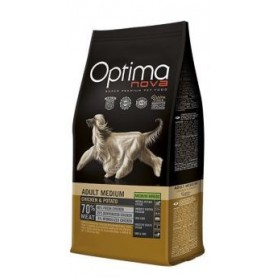Optima Nova Adult Medium Chicken & Potato, pienso para perros naturales