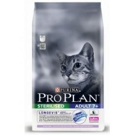 Pienso para gatos Purina Pro Plan Sterilised 7+ Gato Pavo