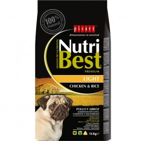 Pienso para perros Picart NutriBest Light Chicken & Rice
