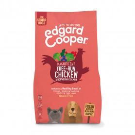 Edgard & Cooper, pienso sin cereales con pollo y salmón frescos para perros senior