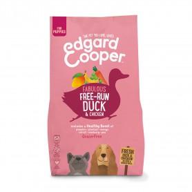 Edgard & Cooper, pienso sin cereales con pato y pollo frescos para cachorros