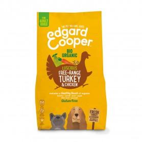 Edgard & Cooper, pienso sin gluten  con pavo y pollo ecológicos y frescos para perros adultos