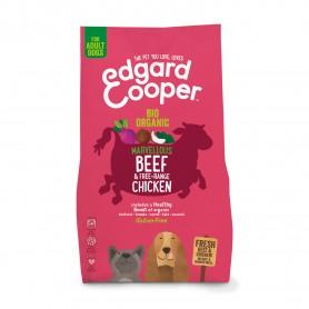 Edgard & Cooper, pienso sin gluten con vacuno y pollo ecológico y frescos para perros adultos