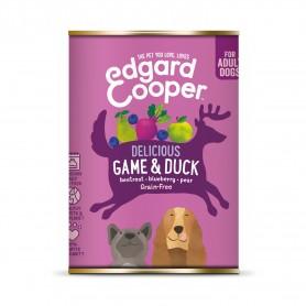 Comida húmeda Edgard & Cooper, latas sin cereales con venado y pato para perros adultos