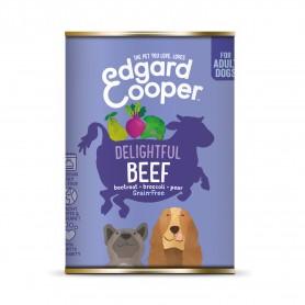 Edgard & Cooper, latas sin cereales con vacuno para perros adultos