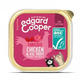 Edgard & Cooper, tarrinas sin cereales con pollo y trucha ASC para gatitos